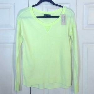 AMERICAN EAGLE XS Bright Yellow Pullover Sweater